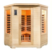 Luxo Taavi 4 Person Corner Infrared Sauna