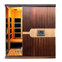 Luxo Valo Infrared Sauna 4 Person Western Red Cedar