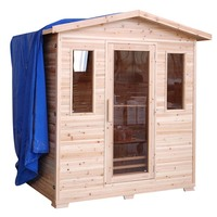 Luxo Kivi Outdoor Finnish Steam Sauna 4 Person