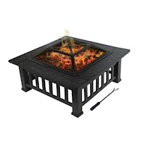 Branton 2-in-1 Steel Outdoor Fire Pit & Grill 32in