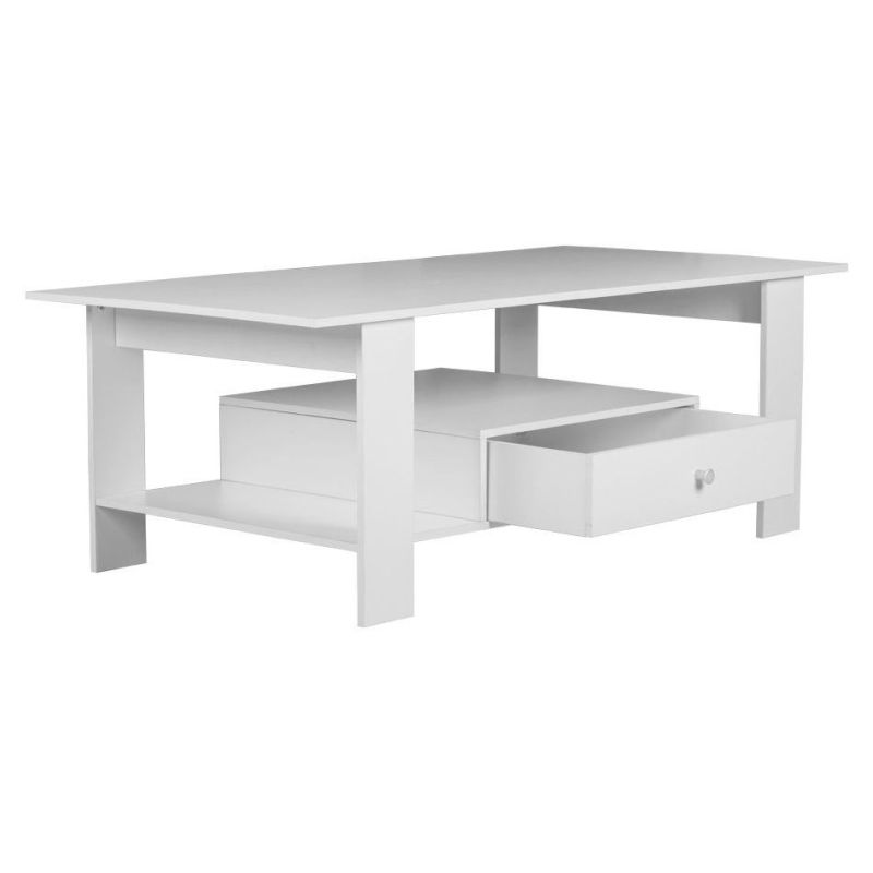 Jwala Mdf Coffee Table W Storage Drawer In White Buy Coffee Tables