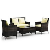 Coogee 3 Sofa & Coffee Table Outdoor Furniture Set
