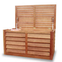 Outdoor Eucalyptus Wooden Storage Bench Chest Box