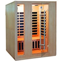 Luxo Valo 3 Person Infrared Home Sauna w/ Speakers