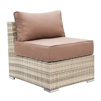 Maho Middle Armless Outdoor Wicker Sofa Desert Sand