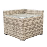 Maho Corner Side Wicker Coffee Table in Desert Sand