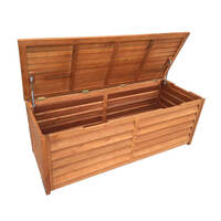 Outdoor Timber Storage Chest & 3 Seat Bench 150cm