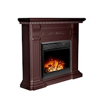 Mantel Style Electric Fireplace Heater Brown 1950W