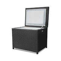 Luxo Wicker Outdoor Cooler Box in Black