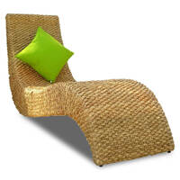Serasa Natural Wicker Day Bed Sun Lounge Chair