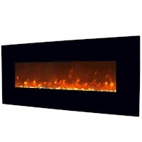 Wall Mounted Electric Fireplace in Black 127cm