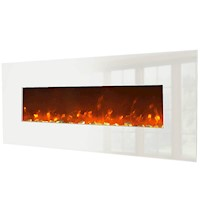Wall Mounted Electric Fireplace in White 127cm