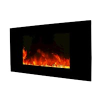 Wall Mounted Electric Fireplace in Black 90cm