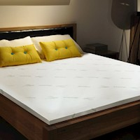 Luxo King Single Bamboo Memory Foam Mattress Topper