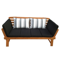 Chatsworth Outdoor Eucalyptus Wooden Day Bed Bench