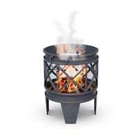 Turin Round Metal Outdoor Fire Pit - Antique Copper