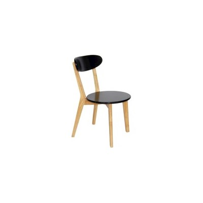 2x Luxo Lara Contemporary MDF Dining Chairs Black