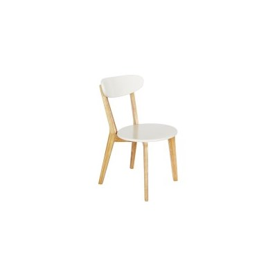 2x Luxo Lara Contemporary MDF Dining Chairs White