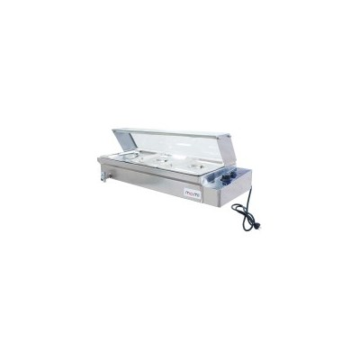 Momi Rosco 3-Pan Commercial Bain Marie Food Warmer