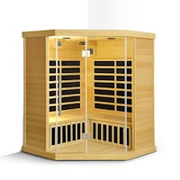 Selva 4 Person Carbon Fibre Corner Infrared Sauna