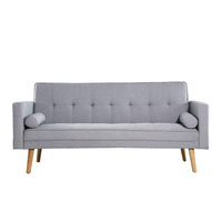 Harlan 3 Seater Fabric Upholstered Sofa Bed in Grey
