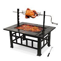 Vesta Outdoor Firepit & Barbeque Grill w/ Spit 94cm