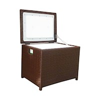 Luxo Wicker Outdoor Cooler Icebox in Brown 34L