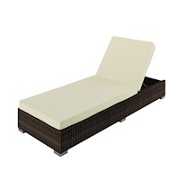 Boracay PE Wicker Adjustable Sun Lounge in Brown