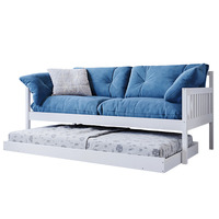 Nosara 2 In 1 Solid Pine Wooden Sofa And Trundle Bed White Buy
