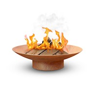 Vintage Steel Rusted Outdoor Fire Pit Bowl 100x26cm