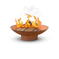 Vintage Steel Rusted Outdoor Fire Pit Bowl 80x26cm