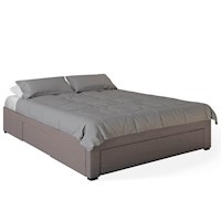 Octavia Double Bed Base w Storage Drawers in Brown