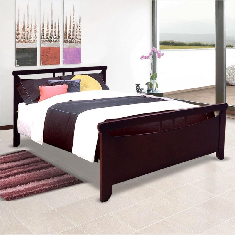 kiara double size wooden bed frame in dark cherry buy double bed frame. Black Bedroom Furniture Sets. Home Design Ideas