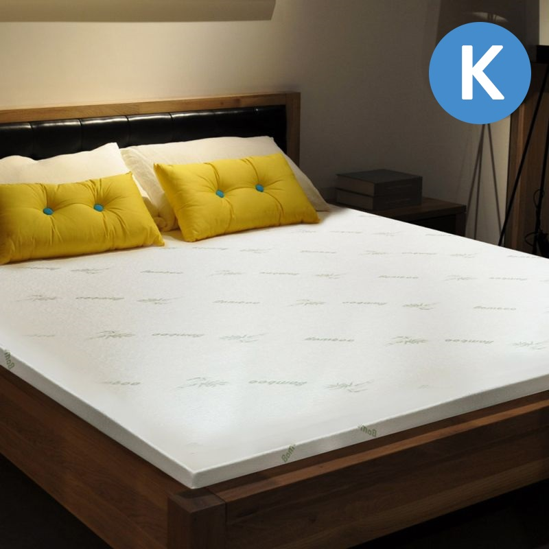 Luxo King Size Bamboo Memory Foam Mattress Topper Buy