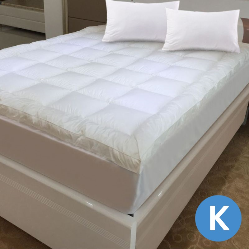 Luxo King Microfibre Pillow Top Mattress Topper