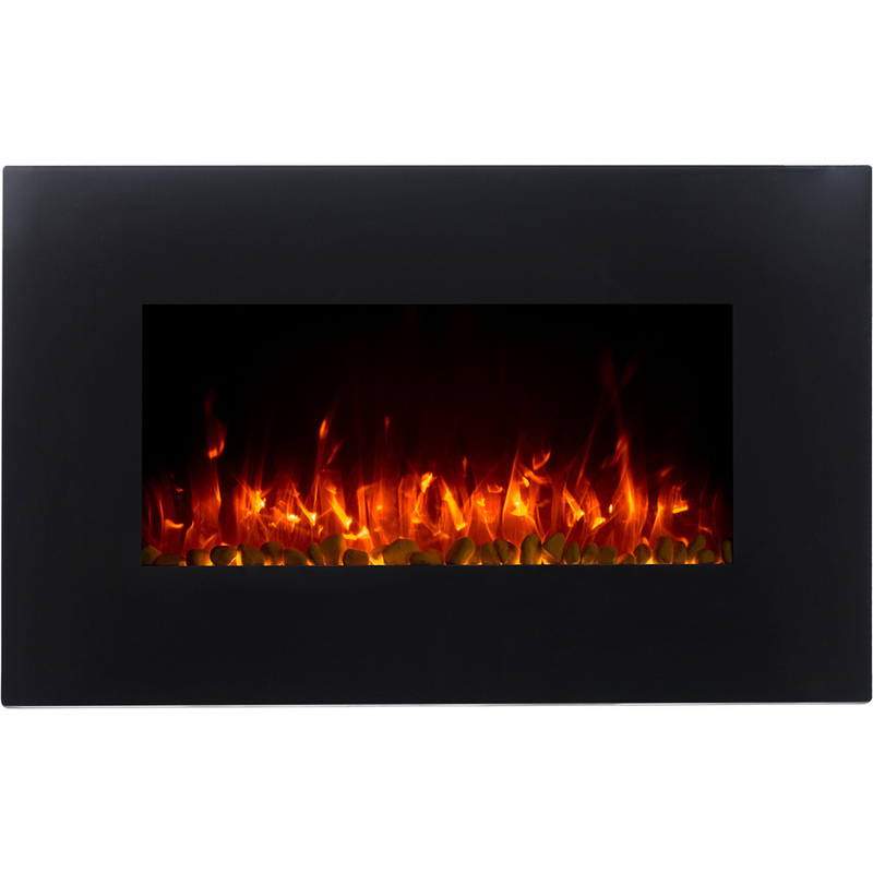 Effie Wall Mounted Electric Fireplace W Stand Black Buy