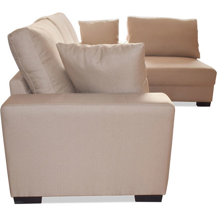 Marcus 4 Seater Modular Fabric Sofa & Chaise Taupe