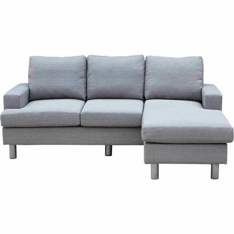 Lambeth reversible 3 seat chaise lounge sofa grey buy sofas for Buy chaise lounge sofa