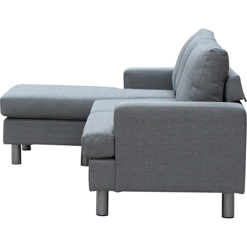 Lambeth reversible 3 seat chaise lounge sofa grey buy for 3 seater lounge with chaise