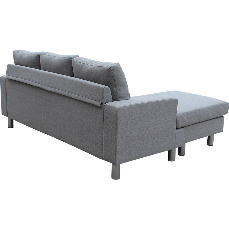 Lambeth reversible 3 seat chaise lounge sofa grey buy for 1 seater chaise lounge
