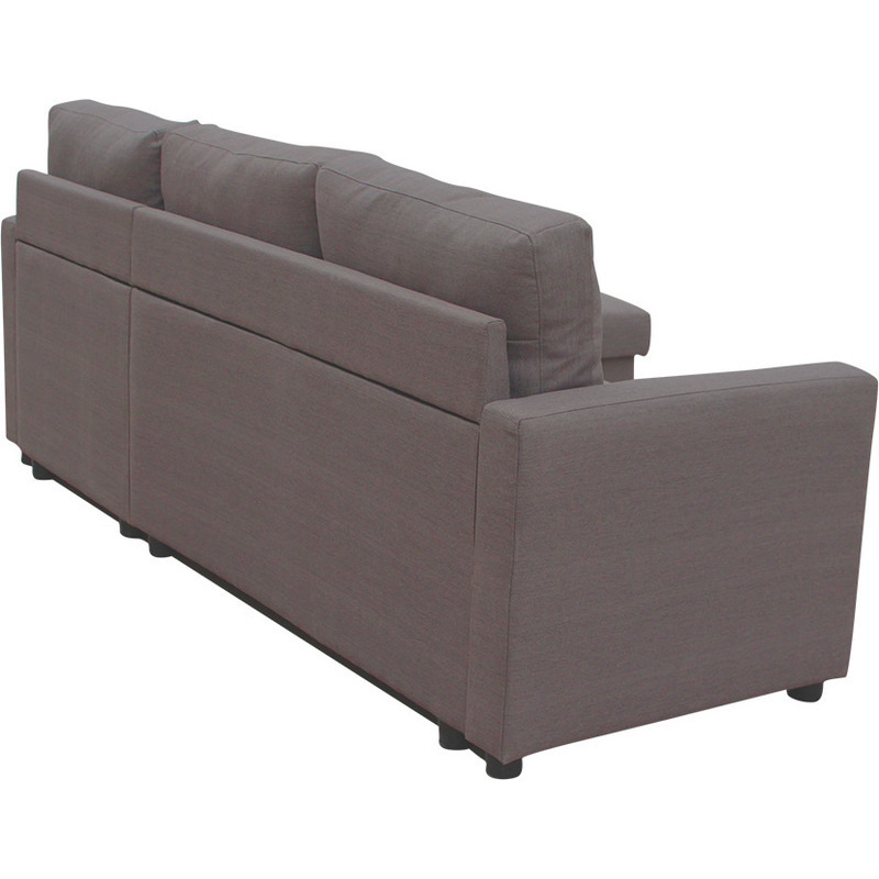 Merton reversible 3 seat chaise lounge sofa brown buy sofas for 2 5 seater chaise lounge