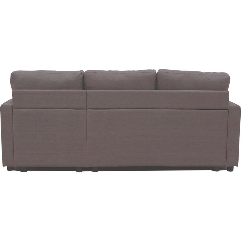 Merton reversible 3 seat chaise lounge sofa brown buy sofas for Brown chaise lounge sofa