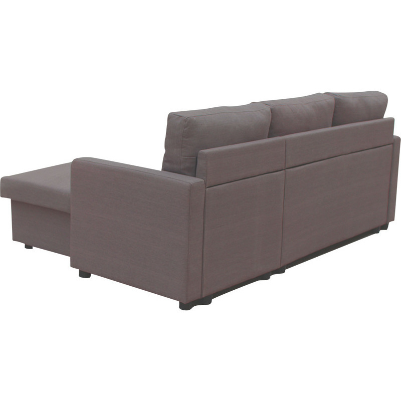 Merton reversible 3 seat chaise lounge sofa brown buy sofas for Buy chaise lounge sofa