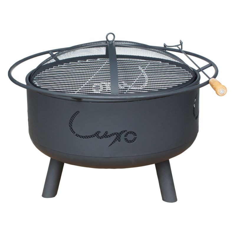 Milan 2 in 1 outdoor portable fire pit bbq grill buy for Buy outdoor fire pit