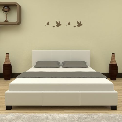 Sheffield Queen Size PU Leather Bed Frame In White Buy Queen Bed - Bedroom furniture shops in sheffield