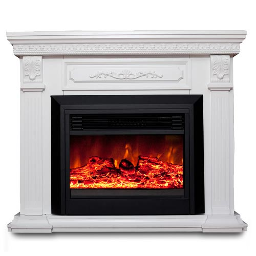 Luxo Edna 1950w Electric Fireplace Heater White Buy Electric Fireplaces