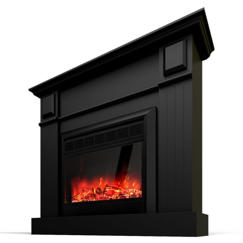 Grace Mantel Electric Fireplace Heater Black 1600w Buy Appliances