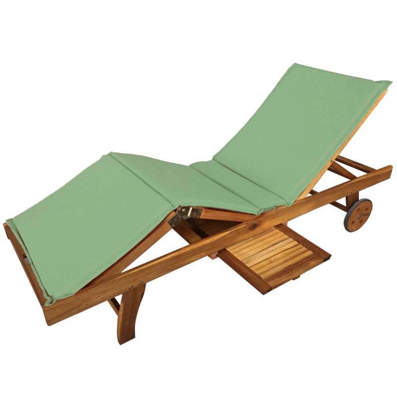 luxo acacia timber outdoor sun lounge bed in green buy sun lounges. Black Bedroom Furniture Sets. Home Design Ideas