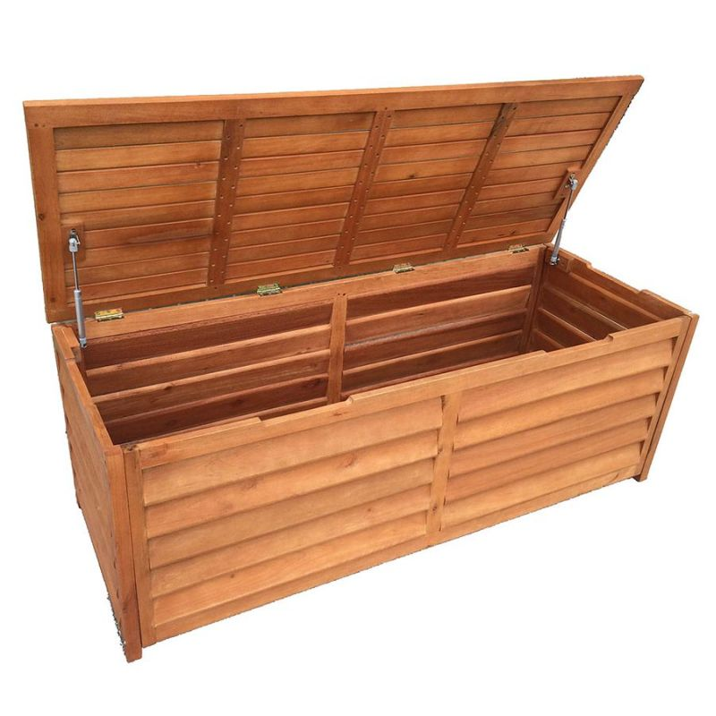 Outdoor Timber Storage Chest 150cm Buy Outdoor Storage Boxes