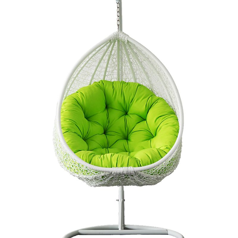 outdoor wicker hanging egg chair in white buy hanging chairs. Black Bedroom Furniture Sets. Home Design Ideas